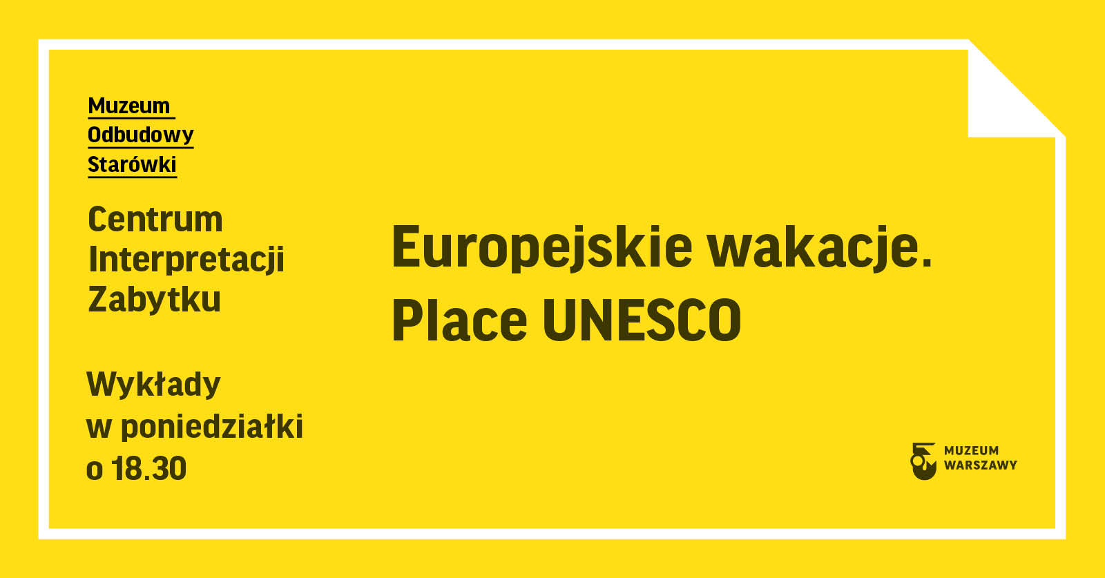 grafika z napisem europejskie wakacje. Place unesco